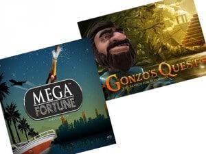 Mega Fortune och Gonzos Quest