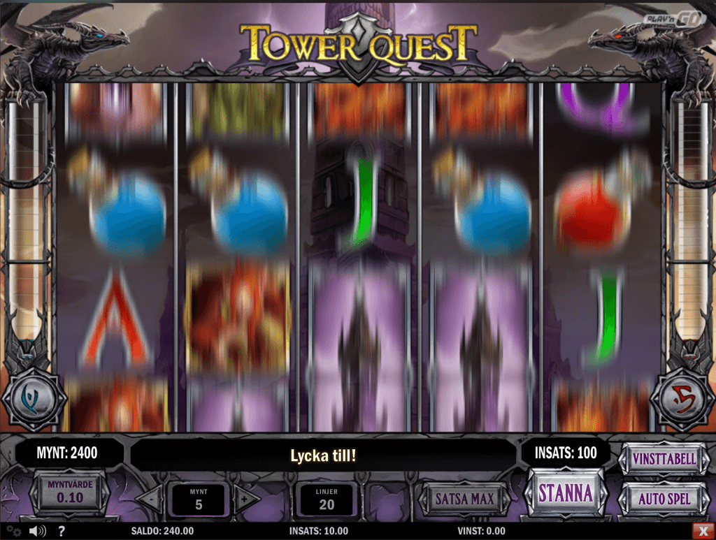 tower quest slots leo vegas