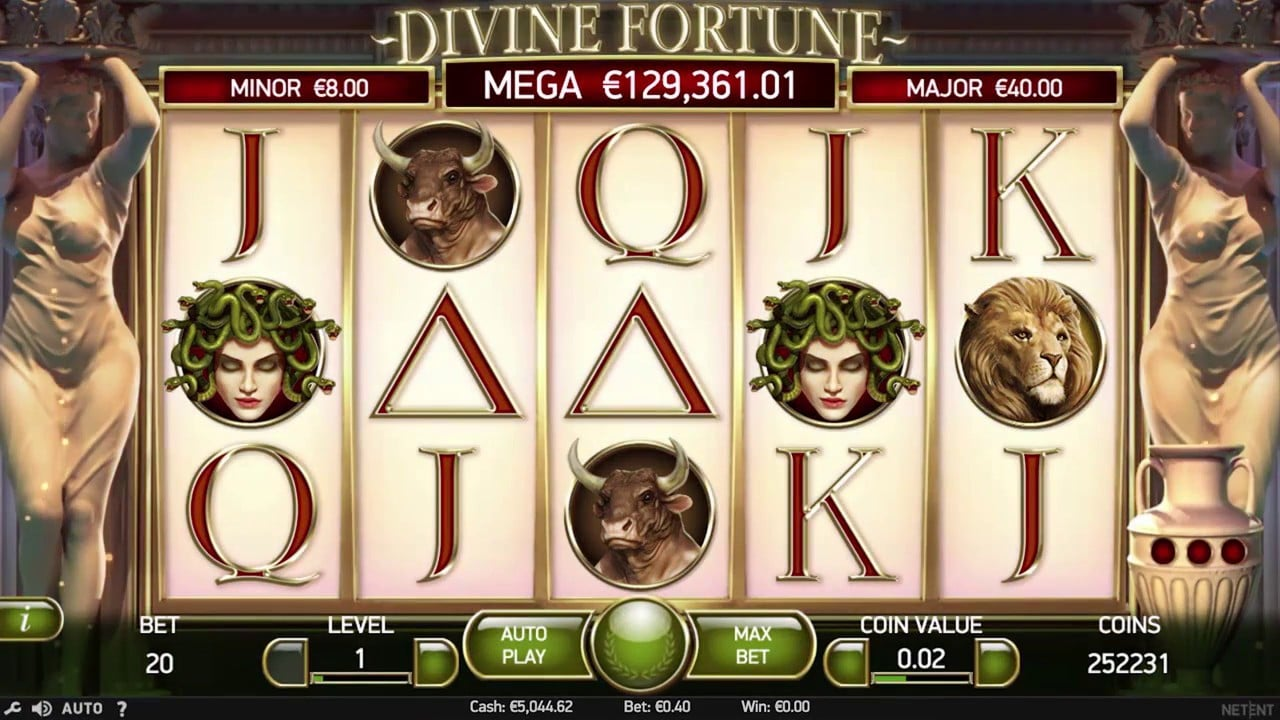 Divine Fortune spelplan