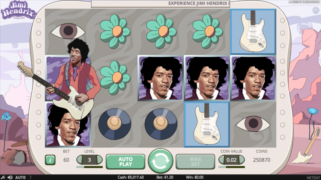 Jimi Hendrix Spelplan