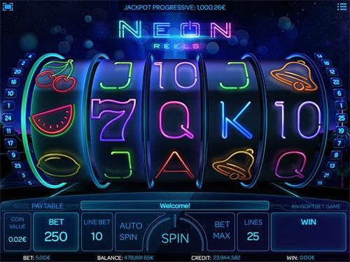 Neon Reels Spelplan