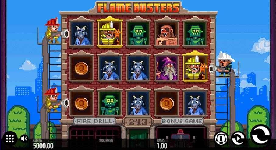 Flame Busters Spelplan