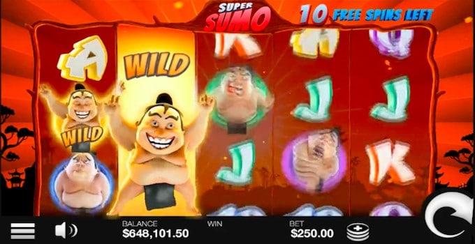 Super Sumo Free spins