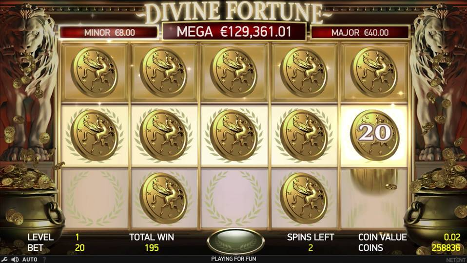 Divine Fortune jackpot