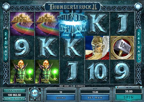 Thunderstruck 2 spelplan
