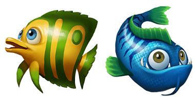 Golden Fish Tank Symbols 1