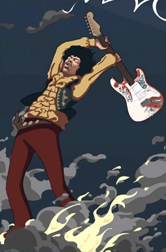 Jimi Hendrix Guitar Smash