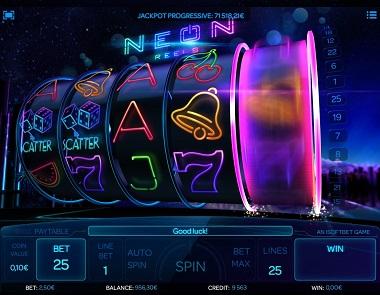 Neon Reels Spelplan 2
