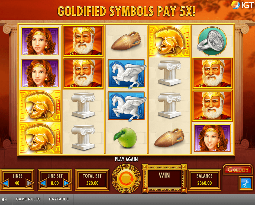 Goldify Spelplan