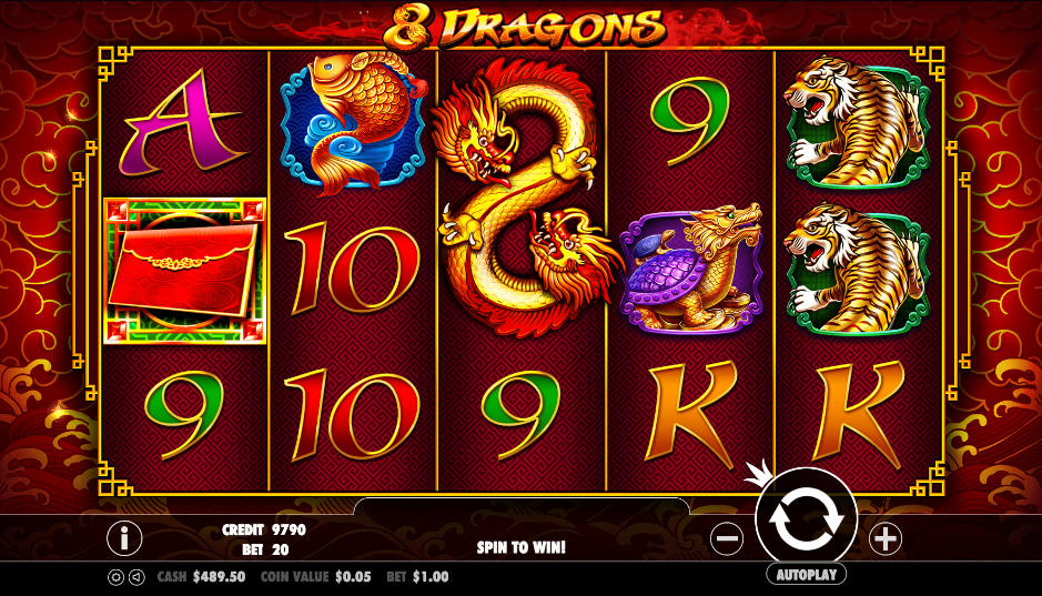 8 Dragons Spelplan