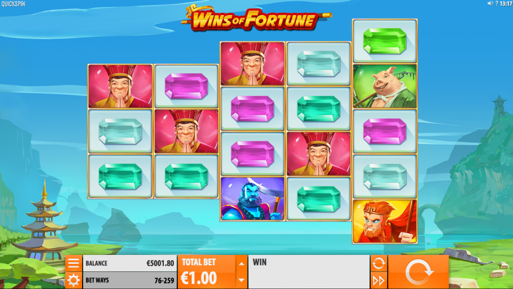 Wins of Fortune Spelplan