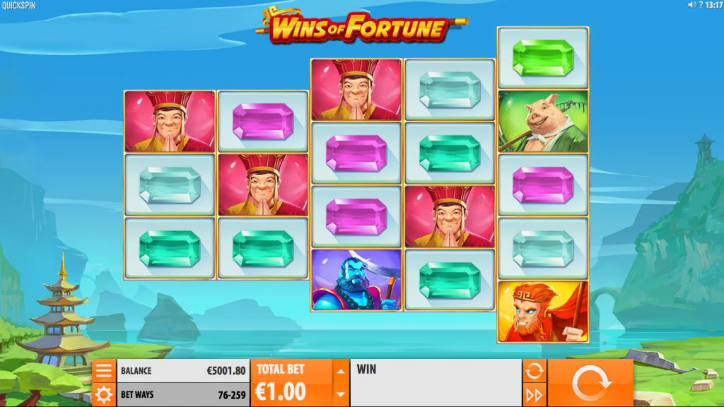 Wins of Fortune Spelplan